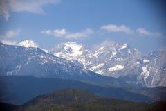 Der Schneeberg im Lijiang Stockfoto