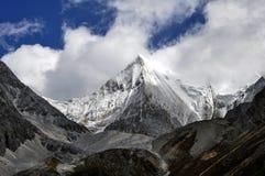 Der Schneeberg von Shangri-La Stockbild