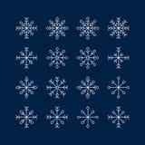 Der Schneeflockensatz Stockbilder