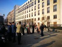 Der schnelle flüchtige Blick von Berlin City mit dem Hochzeitsstandort Stockbilder