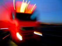 Der schnelle LKW Lizenzfreies Stockbild