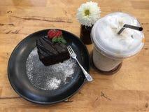 Der Schokoladenkuchenbruchsatz Lizenzfreie Stockbilder