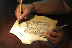 Der Schreibkünstler Stockbilder