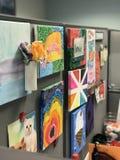 Der Schreibtisch der Kunst Stockfotos