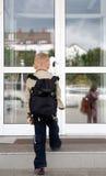 An der Schule Stockfotografie