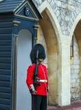 Der Schutz der Königin, der sich vorbereitet, zu sein inneres Windsor-Schloss im Dienst Lizenzfreie Stockbilder