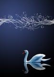 Der Schwan auf blauem Hintergrund Lizenzfreies Stockfoto
