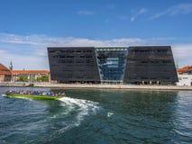 Der schwarze Diamant, königliche dänische Bibliothek Kopenhagen, Dänemark, Sca lizenzfreie stockfotos