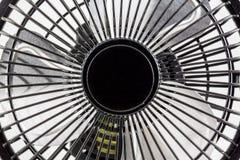 Der schwarze mini elektronische Fan Stockbild