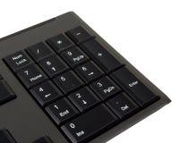 Der schwarze Tastaturabschluß herauf nampad Lizenzfreie Stockfotografie