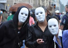 Der Schweine-Pandemie do vor da revolta? Bandeja do kreativer do ein das ISTs de Auch DAS imagem de stock royalty free