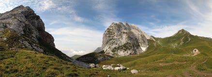 Der Schweizer-Felsen in den Raetikon-Bergen Lizenzfreies Stockbild