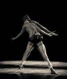 Der schwere Schatten-brennende Blut-moderne Tanz Stockbild