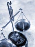 Der Schwerpunkt von Gerechtigkeit Stockfotografie
