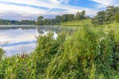 Der See in Blenheim-Palast, England Stockfotografie