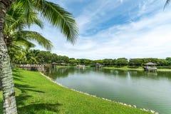 Der See dem Park an der Stadt-S2, Seremban 2, Malaysia Lizenzfreie Stockfotos