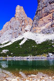 Der See des Berges Lagazuoi Stockbild