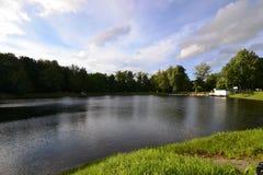 Der See im Park an VDNKH Lizenzfreies Stockfoto