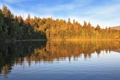 Der See ist mit Fischen reich Lizenzfreie Stockfotografie