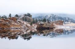Der See marys, Estes Park, Colorado lizenzfreies stockbild