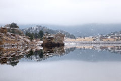 Der See marys, Estes Park, Colorado lizenzfreie stockfotografie
