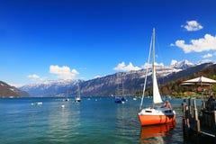 Der See Thun - Thunersee auf Deutsch Stockbilder