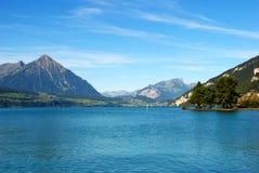 Der See von Interlaken Stockfotografie