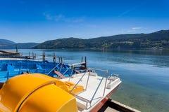 Der See von Millstatt, Österreich stockbilder