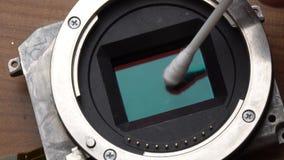Der Sensor der Reinigungskamera stock video footage