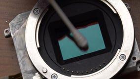 Der Sensor der Reinigungskamera stock footage