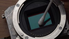 Der Sensor der Reinigungskamera stock video