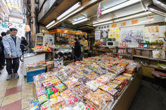 Der Shinsekai-Bezirk von Osaka Stockbilder