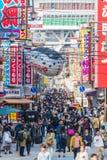 Der Shinsekai-Bezirk von Osaka Stockfotos