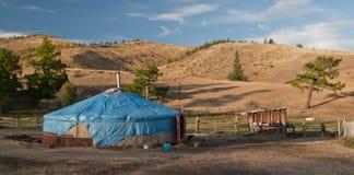 In der sibirischen Steppe Lizenzfreies Stockbild