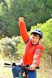Der Sieger des Radfahrens Lizenzfreies Stockbild