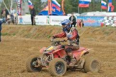 Der Sieger des Rennens Avseenko Vladimir Lizenzfreie Stockbilder