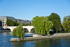 Der Siene Fluss in Paris. Lizenzfreies Stockbild