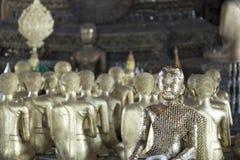 Der silberne Buddha Stockbild