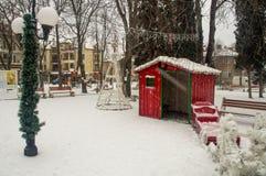 Der Silvesterabend der Kinder in der Mitte der Stadt von Pomorie, Bulgarien Lizenzfreie Stockbilder