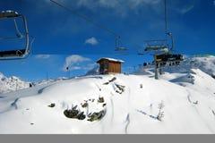 Der Ski-Bereich Stockbild
