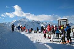 Der Ski-Bereich Lizenzfreie Stockfotografie