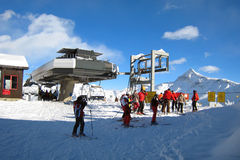 Der Ski-Bereich Stockbilder