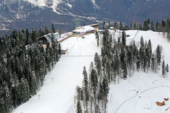 Der Ski- und Biathlonkomplex Stockbilder