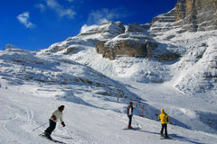 Der Skibereich Stockfotos