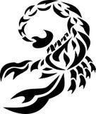 Der Skorpion das Bild einer Tätowierung, zeichnend besteht aus Teilen, dem Ende eines Endstücks eines Tieres mit einem Stich, ein Lizenzfreies Stockfoto