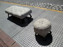 Der Skulptur-Weg in der Nachbarschaft von Boedo Buenos Aires Argentinien Südamerika Stockbilder