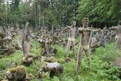 Der Skulpturenpark von Veijo Rönkkönen Stockfotos