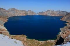 Der sky See bei Changbai lizenzfreies stockfoto