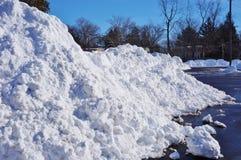 Der snowzilla Jonas-Blizzardschneewinter stürmen am 23. Januar 2016 Lizenzfreie Stockfotografie