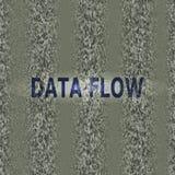 Der Software-Maschinencode Kriptographie, bitkoin, zerhackend, Informationen Sichtbarmachung des binär Code im grünen Datenstrom  Lizenzfreie Stockfotografie